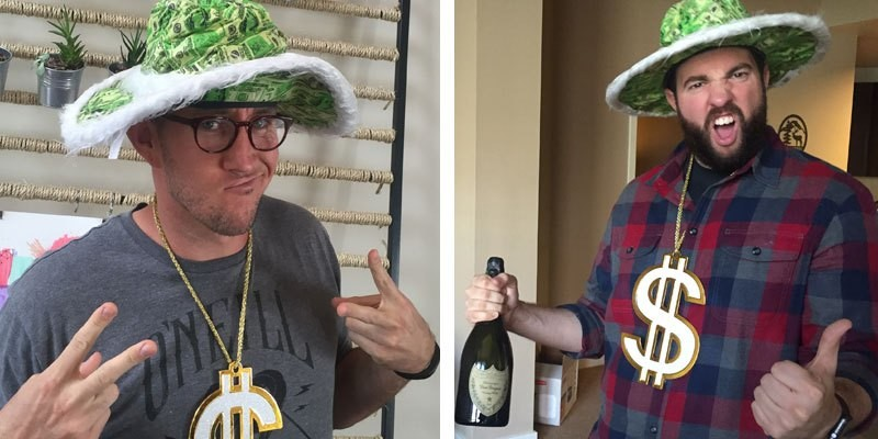 Acuity Scheduling Sent Us Champagne, and Hats, and Gold Chains!